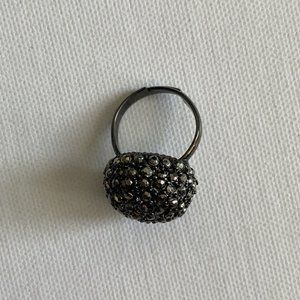 Black Bauble Ring